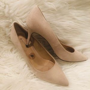 Call It Spring Nude Suede Pumps
